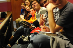 Church Christian Bordentown New Jersey Youth Group back pew